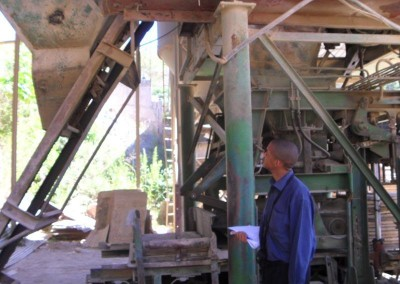 Hebert confirming the existence and working order of complex machinery