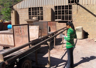 Priya confirming the existence and working order of complex machinery