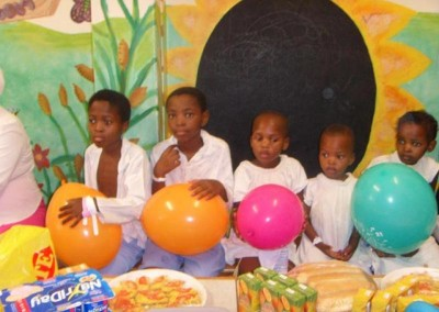 Children at the hospital ward enjoying the party thrown by the office
