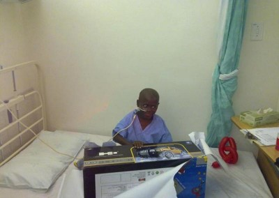 We presented a sick child with a remote controlled car