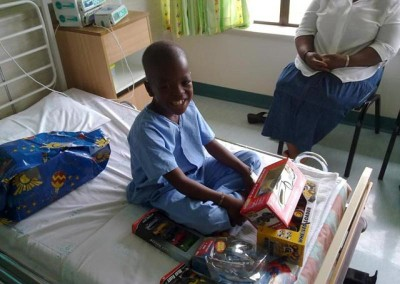 We presented another child with gifts