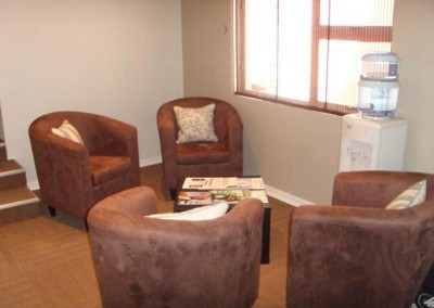 The new waiting area