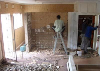 Staff inspecting the progress
