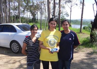 Luthfiya, Kajal and Ayesha getting their breath before the big game