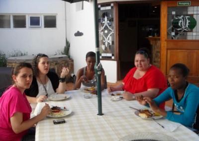 Staff enjoying their lunch