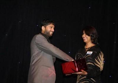 Mr Imraan Lockhat performing a prize draw