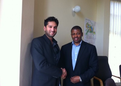 Mr Imraan Lockhat meets the Auditor General of South Africa, Mr. Terence Nombembe