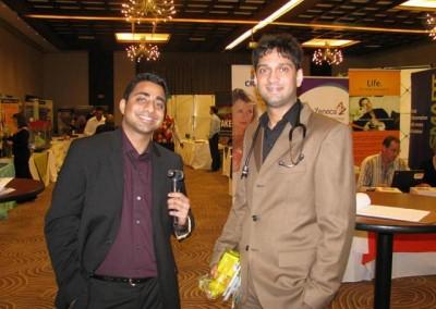 Mr Imraan Lockhat and Muhammad Lockhat at a conference