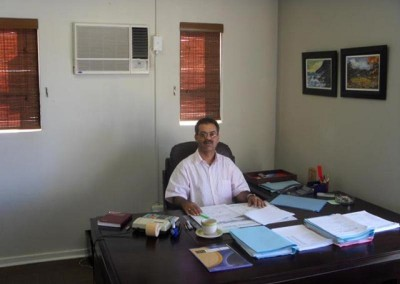 Rohith impressed with the office setup