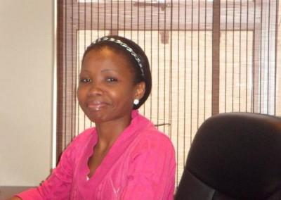 Phumla Zungu enjoying her new work station