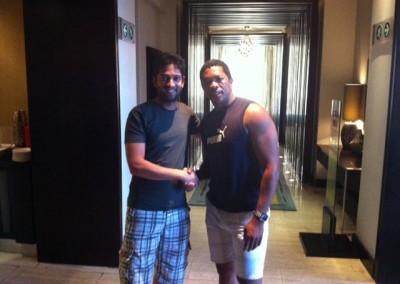 Mr Imraan Lockhat meets cricket legend Makhaya Ntini