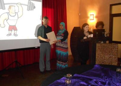 Morgan receiving his umpteenth award