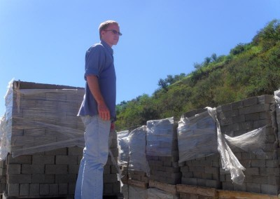 Daniel inspecting the stock keeping location