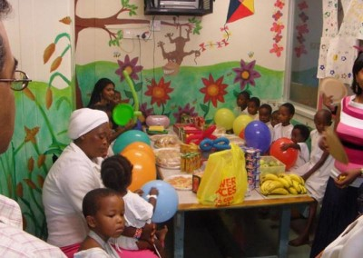 Kids enjoying the party atmosphere
