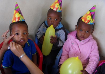 Some of the children getting their faces painted