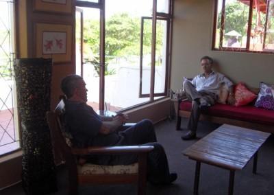 Mr. Ramsarup & Mr. Whitaker having a break!