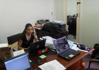 Priya is improvising to continue work