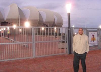 Herbert Zata at the Nelson Mandela Stadium in Port Elizabeth